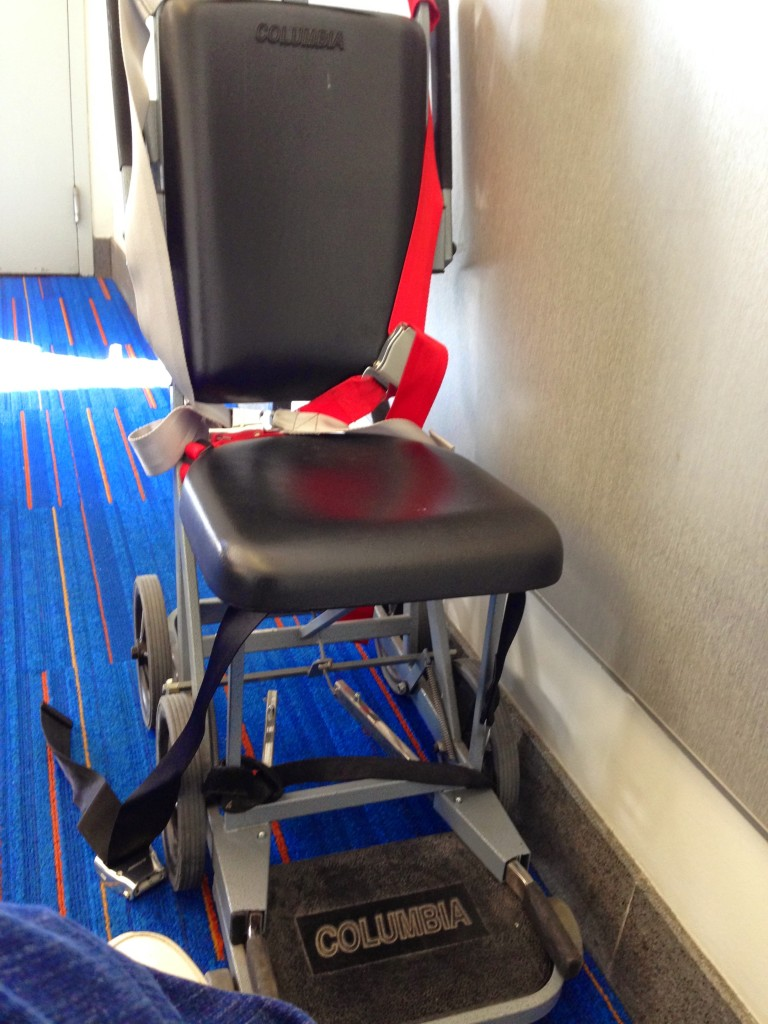 The Transfer Wheelchair you use to get on the airplane